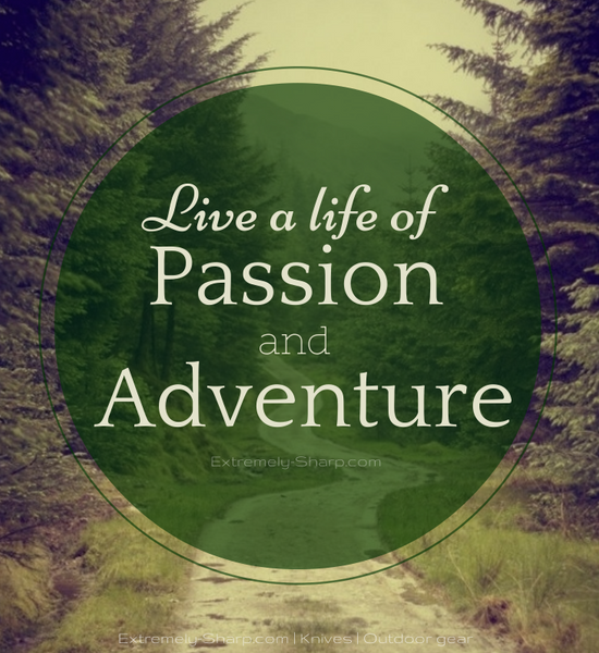 Live a life of passion and adventure