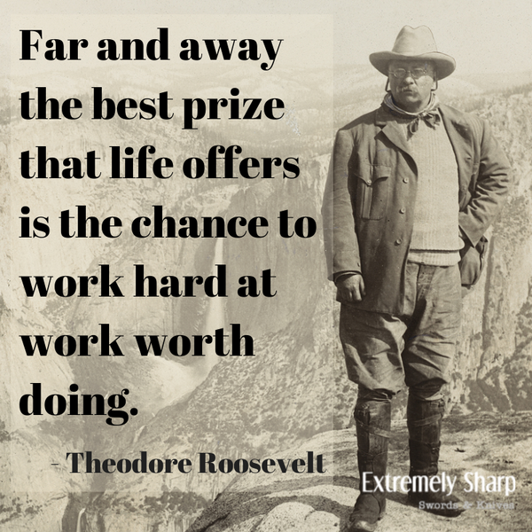 Chance to work hard at work worth doing Teddy Roosevelt quote