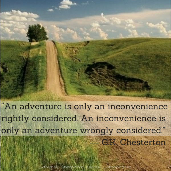 G.R. Chesterton adventure quote