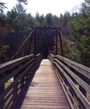 Hiking - bridge over river