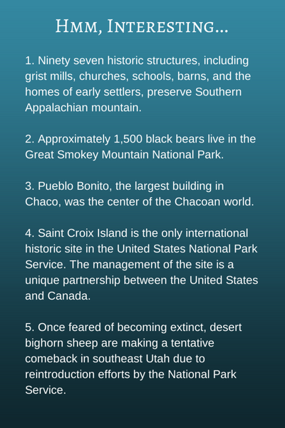 interesting national parks facts
