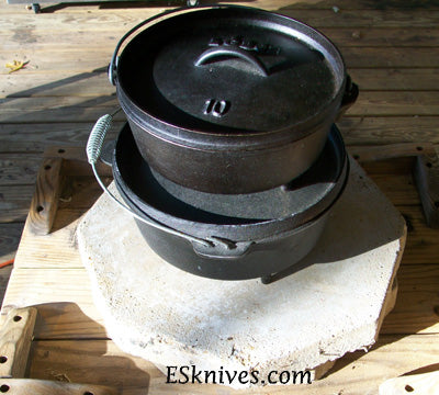 Real Men Cook Meat Cast Iron Dutch Oven