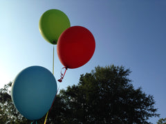 Balloons flying away royalty free stock photo