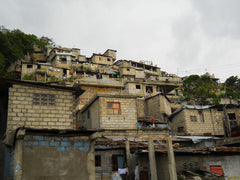 Haiti - mountainside homes after earthquake