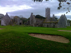 Ireland - Adare church ruins on golf course