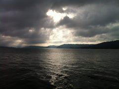 Lake Guntersville Alabama - sun breaking through
