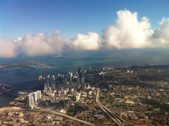 Miami skyline from Air - wallpaper
