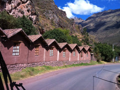 Peru - Row of houses in mountains