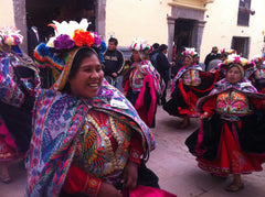 Peru - natives dance in street
