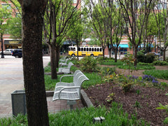 Trolly in park Atlanta - royalty free stock photo