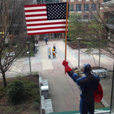 American flag with captain america