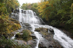 Waterfall in Georgia autumn