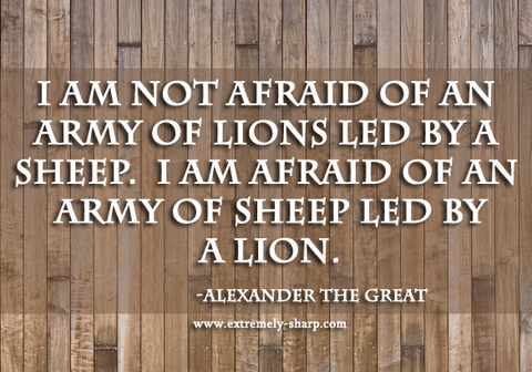 army of sheep led by a lion Alexander the Great quote