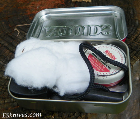 altoid can firestarter kit