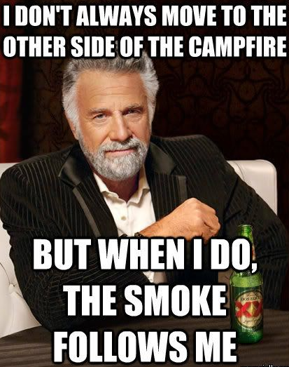 Most Interesting Man in the World Camping Quote