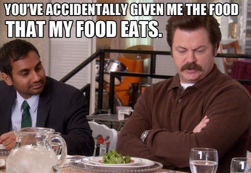 Ron Swanson What my food eats quote