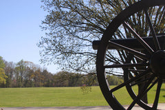 Cannon aimed across field at Kennesaw Mountain National Battlefield