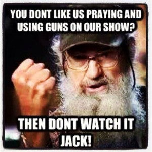 Uncle Si pro gun quote