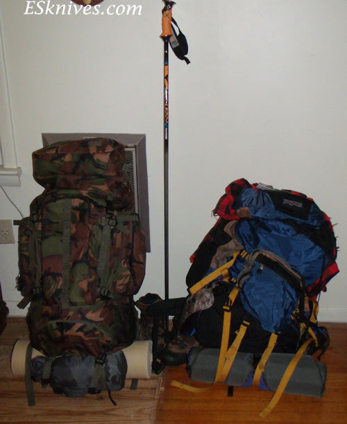 Finished Packs for Hiking