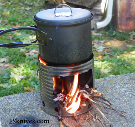 backpacking hobo stove survival tool