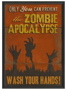 Prevent Zombie infections by washing your hands