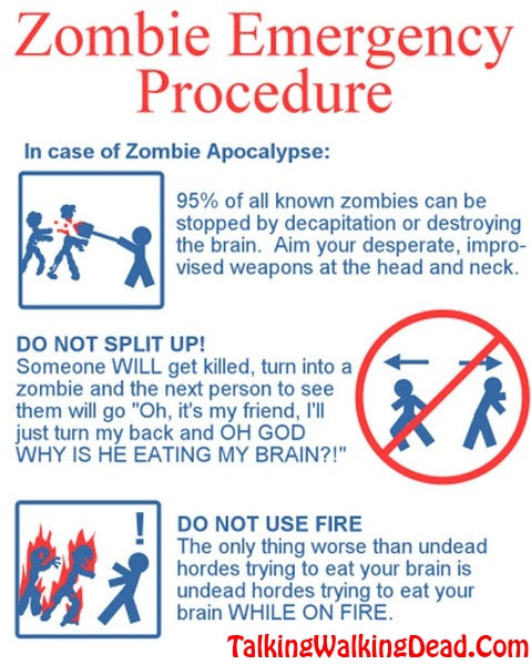 Zombie Emergency Procedure Inforgraphic