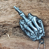 Middle Finger Necklace With Hidden Neck Knife