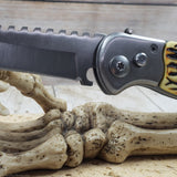 Working Man's Automatic Knife Delrin Jigged Bone Overlay Handle Drop Point