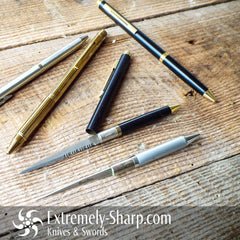 Slim Pen Knife, Knives  by Extremely-Sharp Black, Silver, and Gold - Extremely-Sharp.com