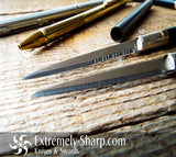 Slim Pen Knife, Knives  By Extremely-Sharp Black, Silver, And Gold