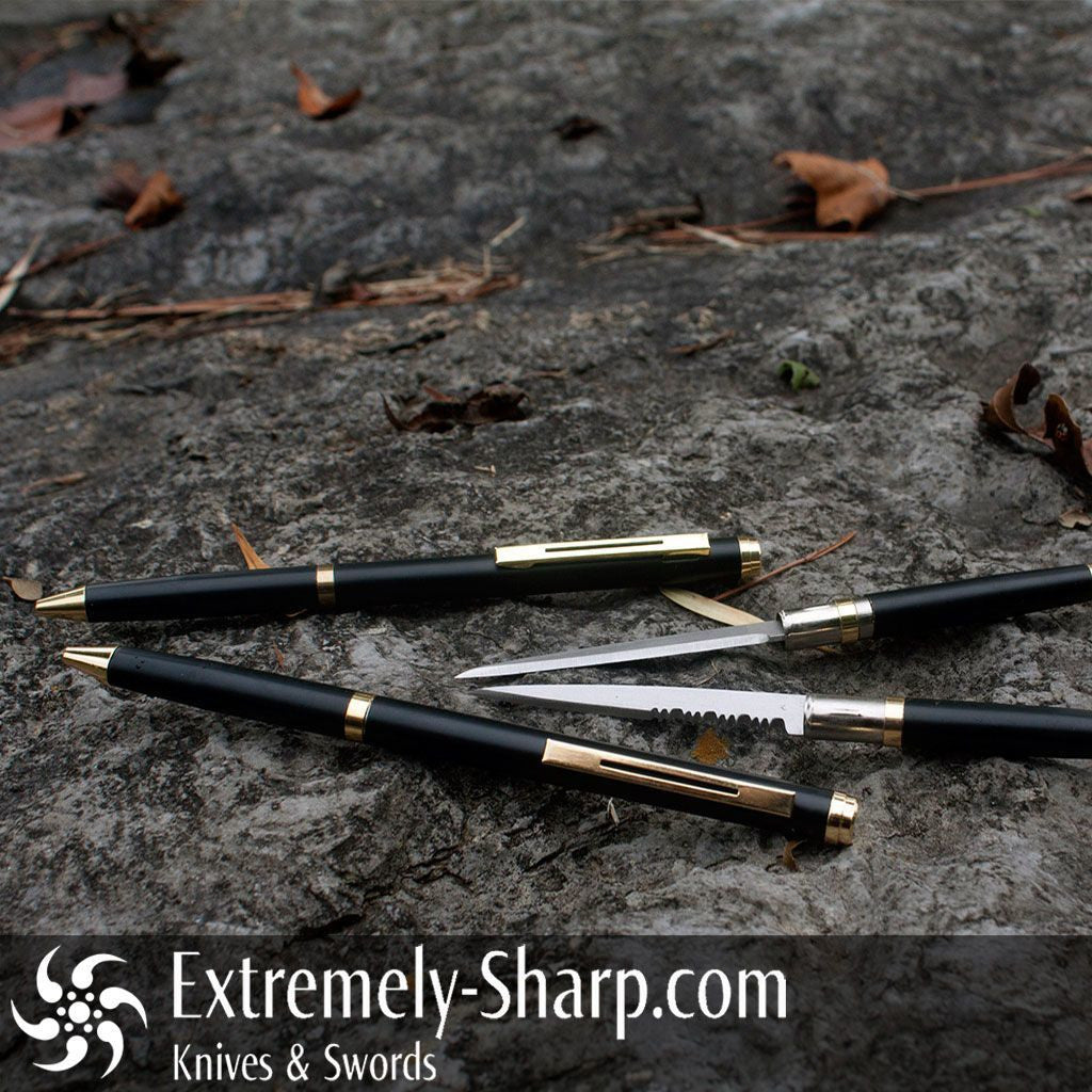Pen Knives - Black Slim Pen Knife By Extremely-Sharp