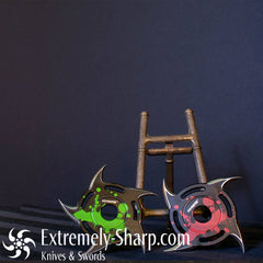 Z HUNTER ZOMBIE Shuriken SPINNER THROWING STAR SET