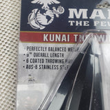 "United Cutlery USMC Throwing Set KUNAI Knife 9"" AUS-6 Steel Blade Cord Handle"