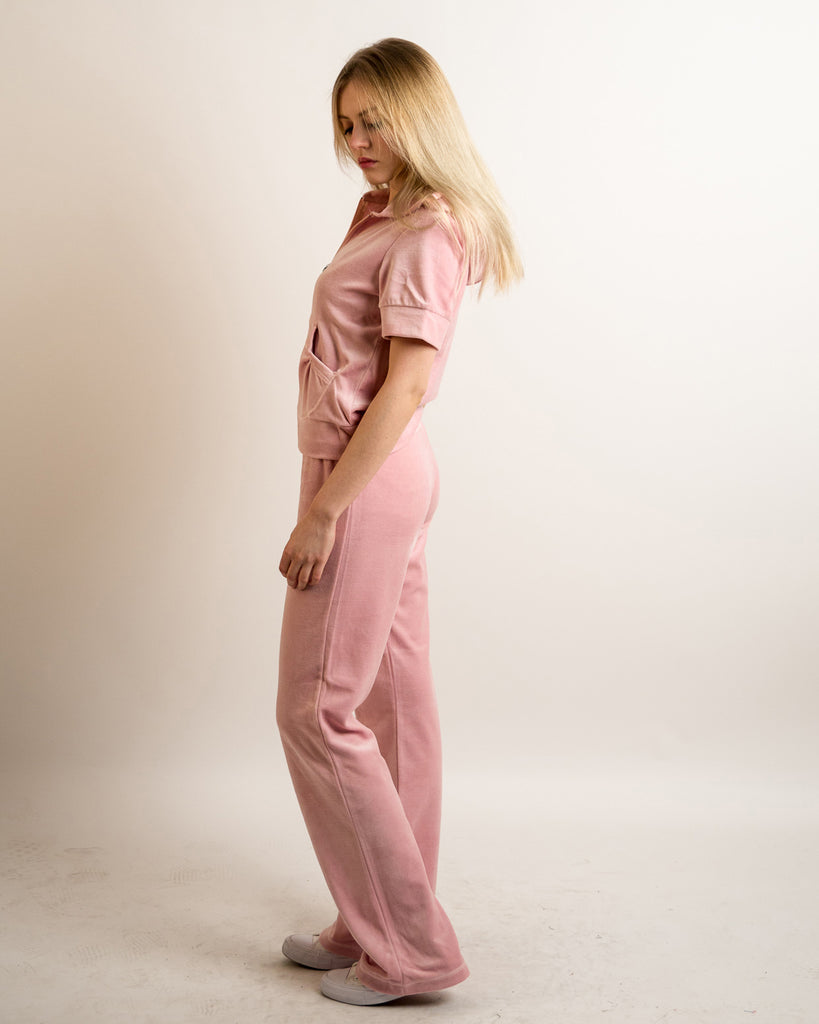 2c117acef9 Velour Tracksuits with short sleeves (BABY PINK) – CY Boutique