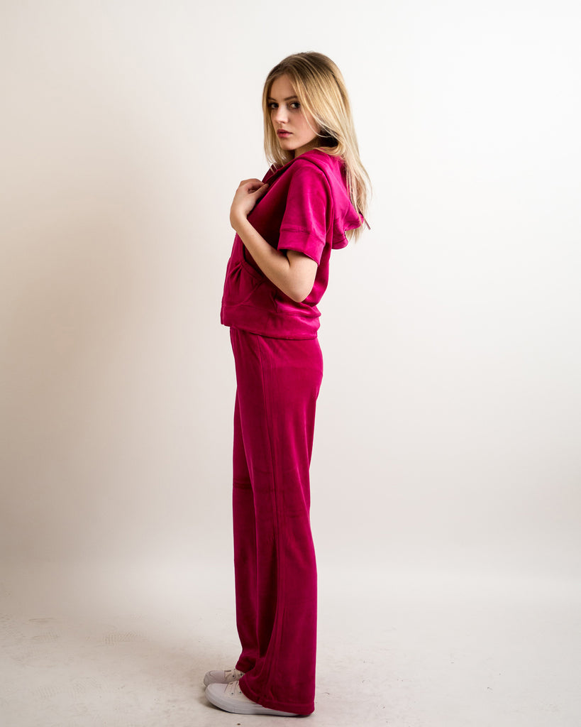 802d122ed2 Velour Tracksuits with short sleeves (HOT PINK) – CY Boutique