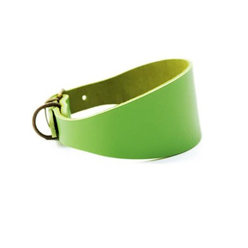 Collar Galgo Leather Verde