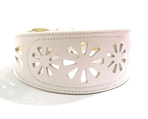 Collar Galgo Filigrana Blanco