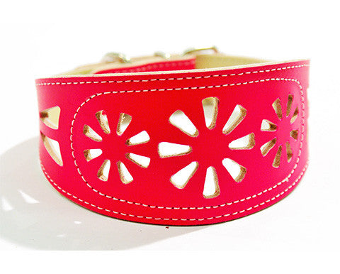 Collar Galgo Filigrana Fucsia