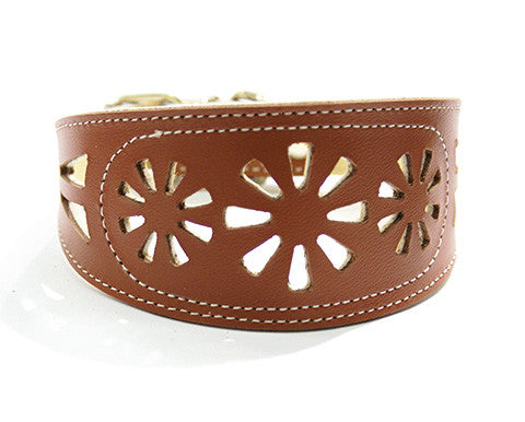 Collar Galgo Filigrana Marron