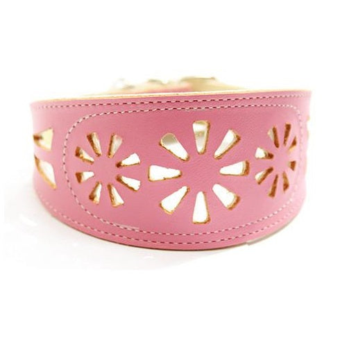 Collar Galgo Filigrana Rosa