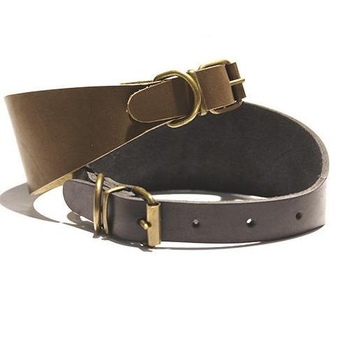 Collar Galgo Leather Marron