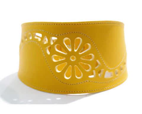Collar Galgo Martingale Filigrana Amarillo