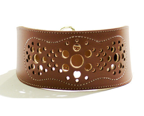 Collar Galgo Martingale Filigrana Estrecho Marron