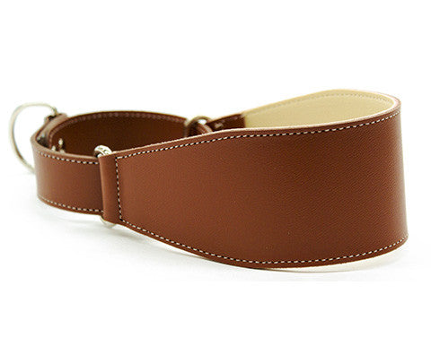 Collar Galgo Martingale Estrecho Marron
