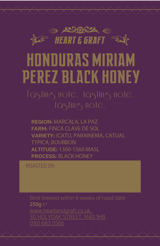 Miriam Perez Black Honey Microlot