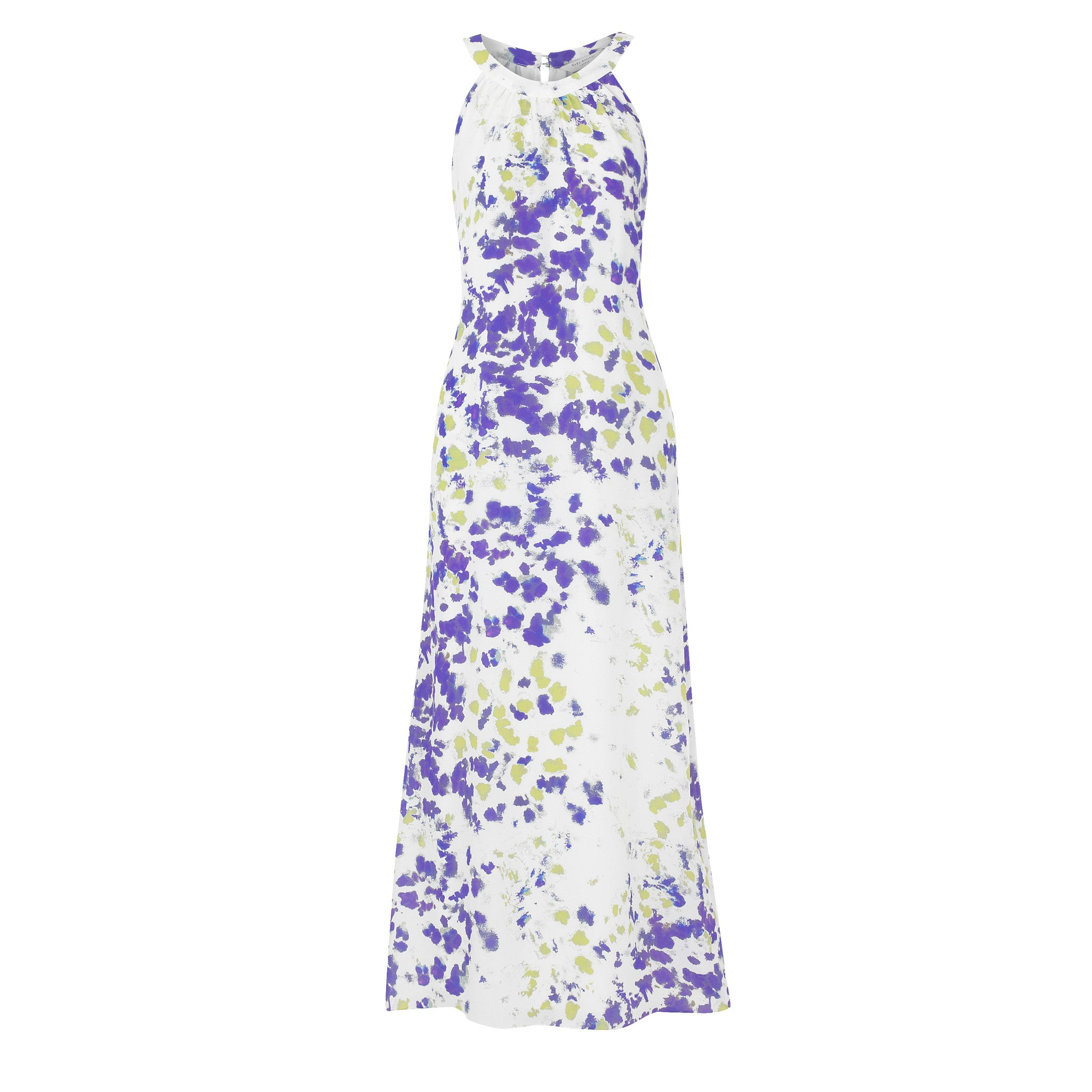 Jemima Maxi Dress -  Purple and Green Ink