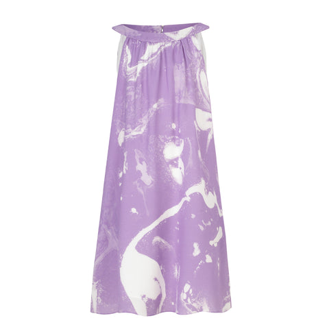 mini B Dress -  Lilac and White Smoke