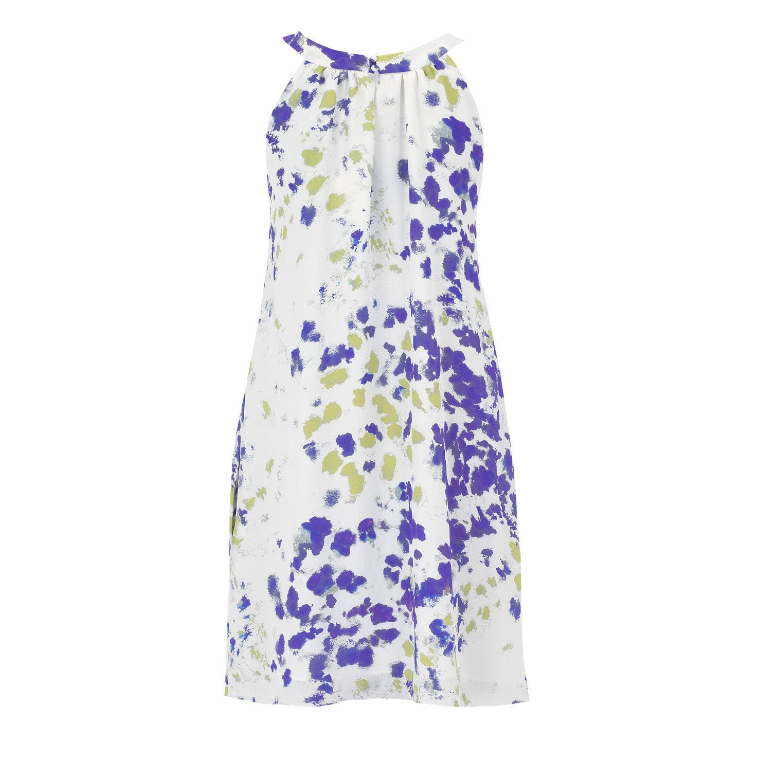 Olivia Midi Dress - Purple and Green Ink