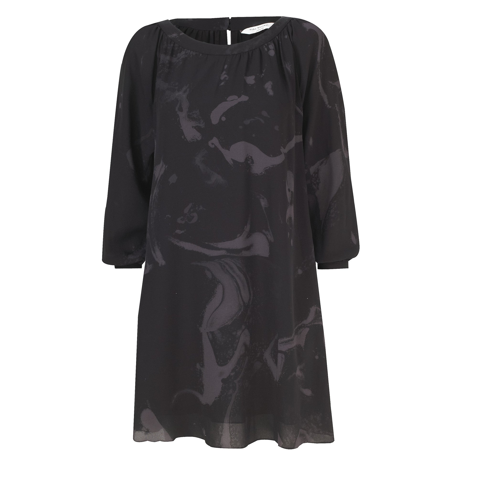 Tabitha Long Sleeve Midi Dress - Raven Grey Smoke