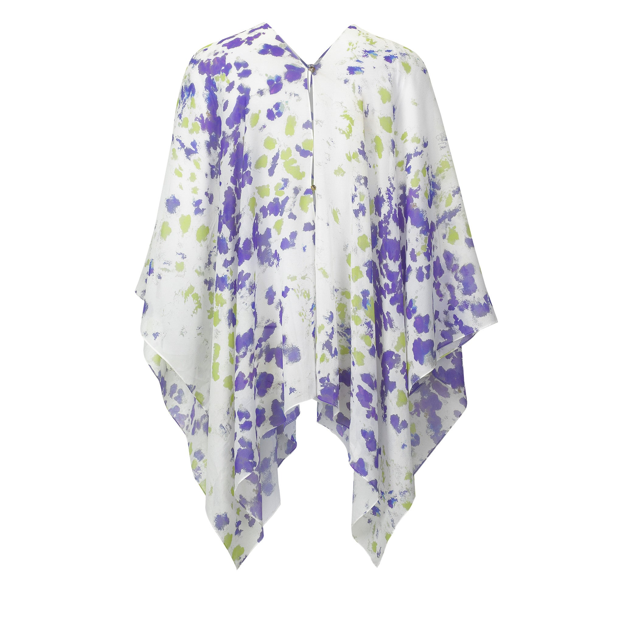 BoBo Kaftan -  Purple and Green Ink